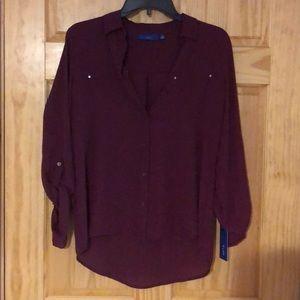 Apt. 9 sleeveless blouse. Small. Wine. NEW.